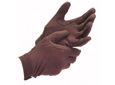 Guantes algodón palma engomada marrón